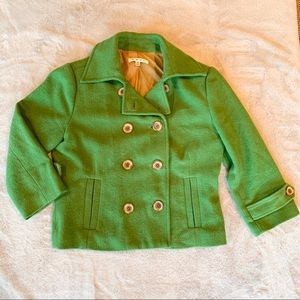 CAbi Double Breasted Green Cropped Jacket 8
